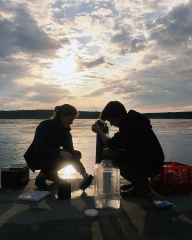 Image of OSD scientists at twighlight