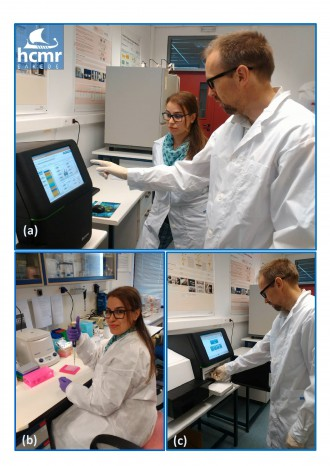 OSD researchers analysing samples